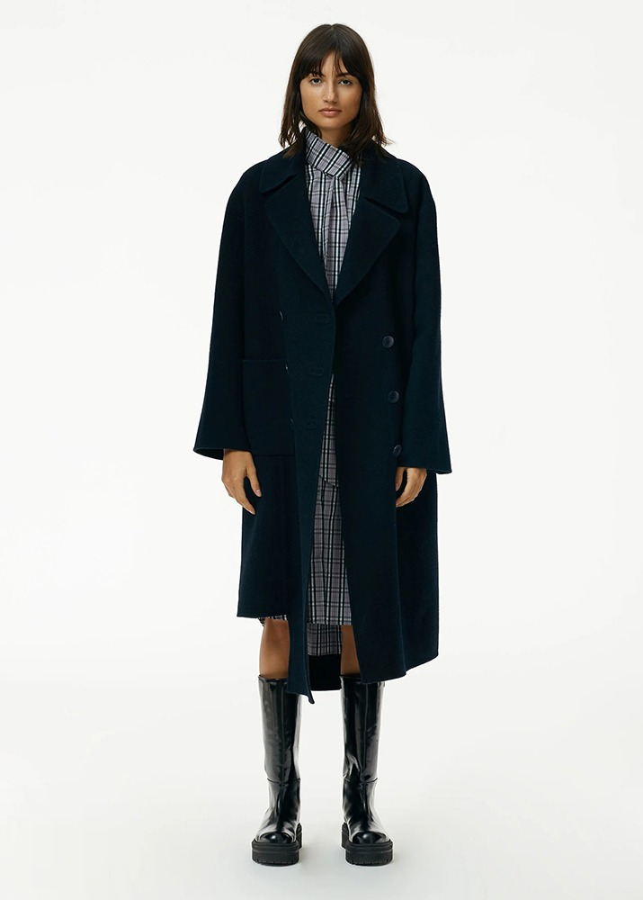 TIBI _ Luxe Double Faced Wool Angora Carwash Coat