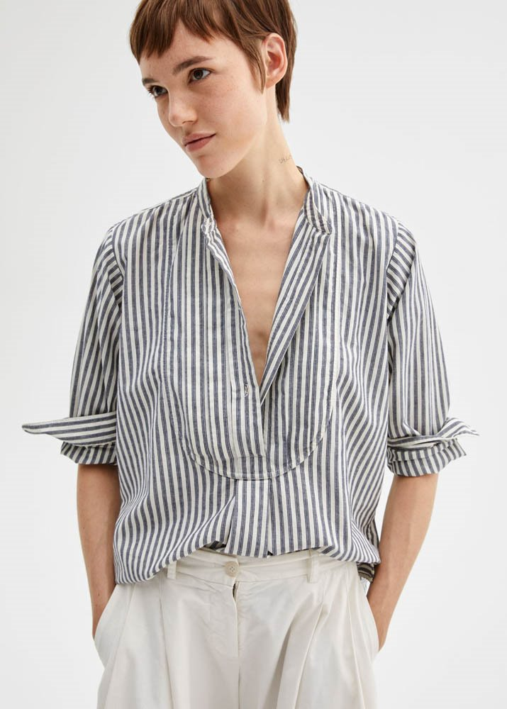 NILI LOTAN _ Clemont Top Cotton Woven Blouses