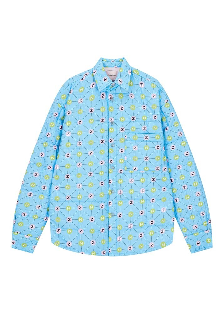 NATASHA ZINKO _ Padded Printed Oversized LS Shirt Jacket