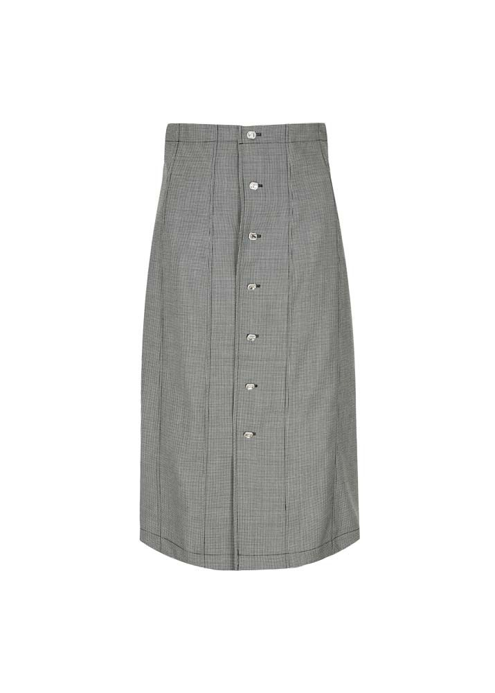 EDWARD CRUTCHLEY _ Houndstooth Strass Button Paneled Skirt