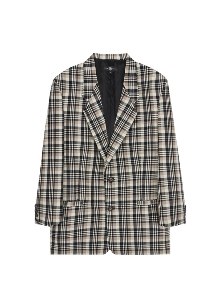 EDWARD CRUTCHLEY _ Drop Lapel Jacket Check