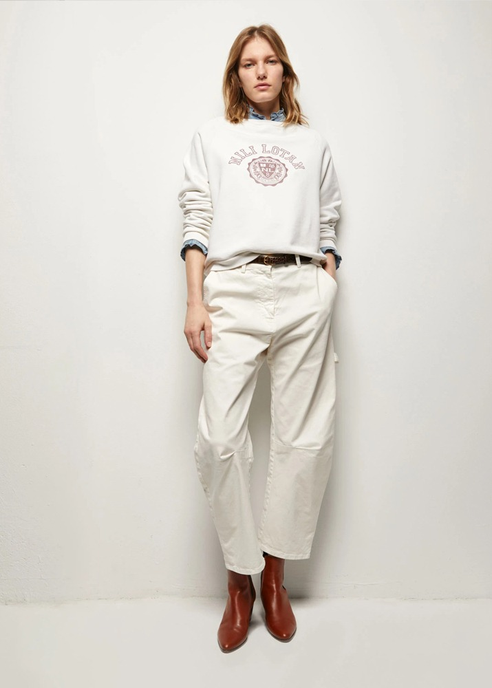 NILI LOTAN _ Carpenter Pant Ivory