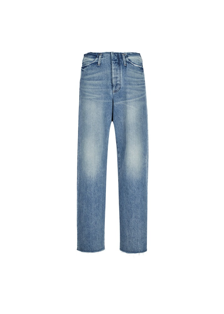 TANAKA _ Unfinished Dad Jean Trousers Blue