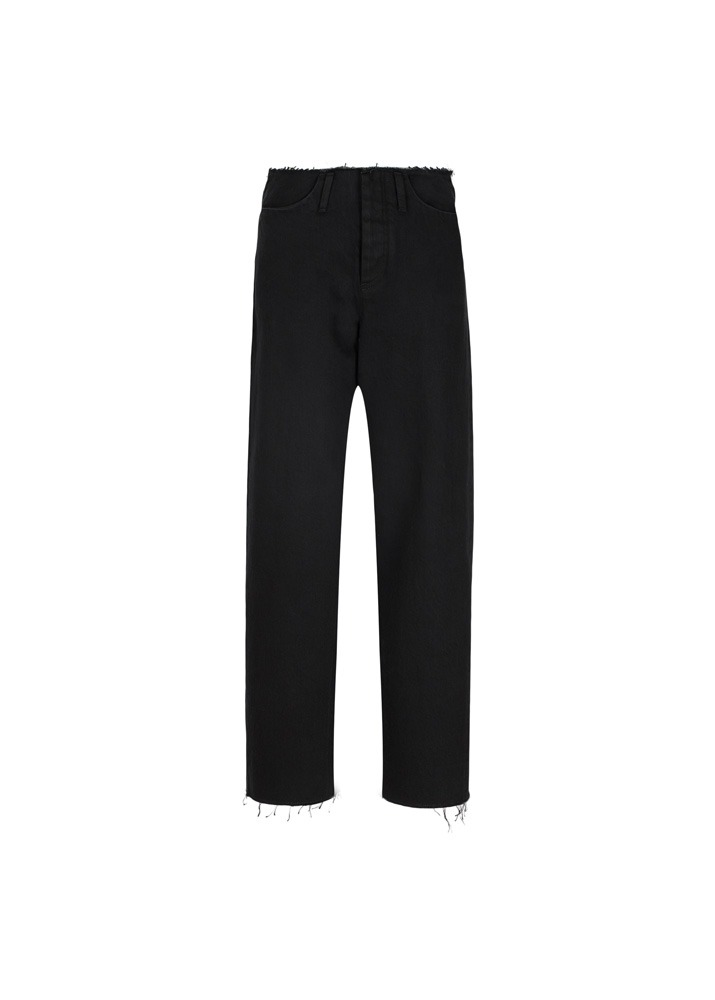 TANAKA _ Unfinished Dad Jean Trousers Black