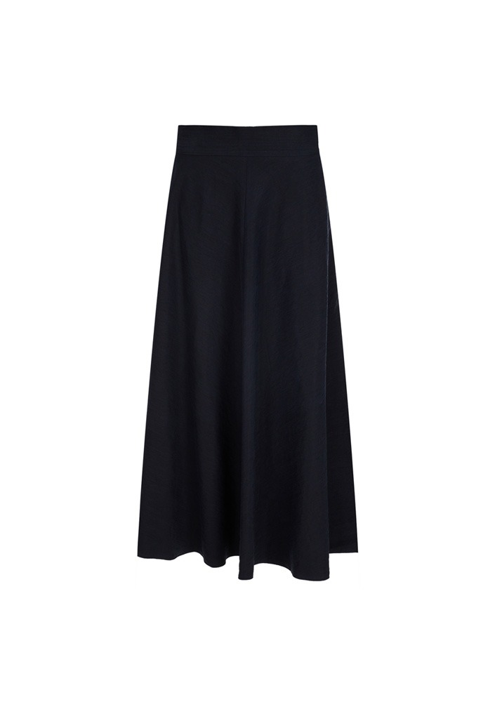 FORTE FORTE _ Sandwashed Fabric Skirt Black