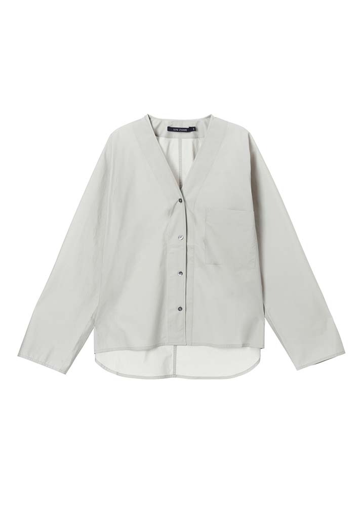 SOFIE D'HOORE _ Shirt With Chest Pocket & Oversized Armholes Beige
