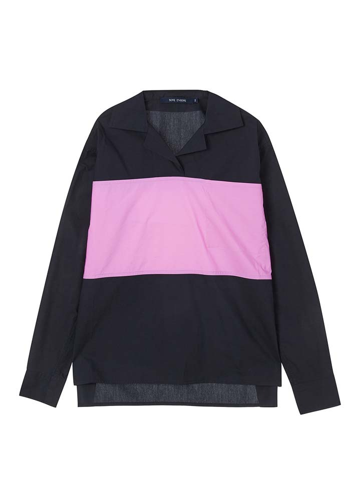 SOFIE D'HOORE _ Long Sleeve Top With Contrast Color Block